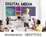 digital media technology... | Shutterstock . vector #480275761