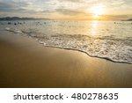 beautiful tropical sunrise on... | Shutterstock . vector #480278635