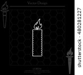 candle line icon   vector   Shutterstock .eps vector #480281227