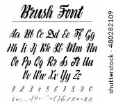 font   handwriting brush. it... | Shutterstock .eps vector #480282109