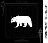 bear symbol   vector... | Shutterstock .eps vector #480282634