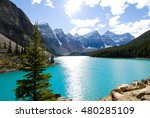 moraine lake in autumn  banff... | Shutterstock . vector #480285109