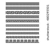set of border decoration... | Shutterstock .eps vector #480295501