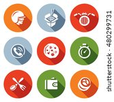 vector set of delivery icons.... | Shutterstock .eps vector #480299731