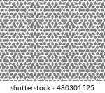 seamless islamic lattice... | Shutterstock .eps vector #480301525