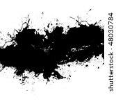 a grungy plaint or ink splatter ... | Shutterstock .eps vector #48030784