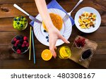 healthy eating  diet and people ... | Shutterstock . vector #480308167