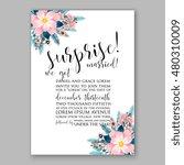 romantic pink peony bouquet...   Shutterstock .eps vector #480310009