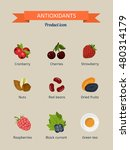 antioxidants. set of icons ... | Shutterstock .eps vector #480314179