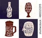 set of 4 hand lettering phrases ...   Shutterstock .eps vector #480315295