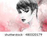 Style Woman Portrait. Abstract...