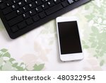 smart phone with keyboard | Shutterstock . vector #480322954