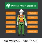 personal protect equipment ... | Shutterstock .eps vector #480324661