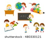 school kids set | Shutterstock .eps vector #480330121