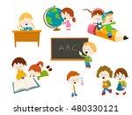 school kids set | Shutterstock .eps vector #480330121