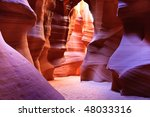 Small photo of Antelope Canyon is the most photographed slot canyon in the American Southwest. It is located on Navajo land near Page, Arizona.