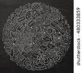 cartoon cute doodles hand drawn ... | Shutterstock .eps vector #480333859