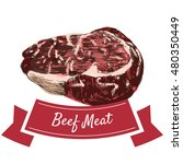 beef meat colorful illustration.... | Shutterstock .eps vector #480350449