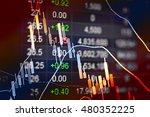 data analyzing in forex market... | Shutterstock . vector #480352225