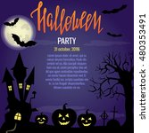 halloween illustration with... | Shutterstock .eps vector #480353491
