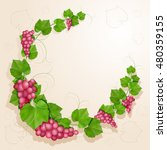 grapes with leaves background | Shutterstock . vector #480359155