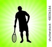 tennis player on green... | Shutterstock .eps vector #48036166