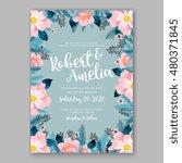 romantic pink peony bouquet... | Shutterstock .eps vector #480371845
