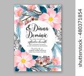 romantic pink peony bouquet...   Shutterstock .eps vector #480371854
