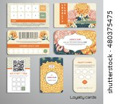 set of loyalty cards.... | Shutterstock .eps vector #480375475