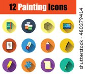 set of painting icons in ui...
