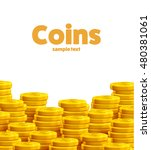 gold coins isolated with place... | Shutterstock .eps vector #480381061
