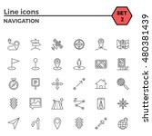 navigation thin line related... | Shutterstock .eps vector #480381439
