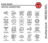digital marketing thin line... | Shutterstock .eps vector #480381481