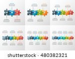 set of puzzle style timeline... | Shutterstock .eps vector #480382321
