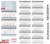 2017 calendar  design in gray... | Shutterstock .eps vector #480385894