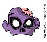 Halloween Paper Mask   Zombie