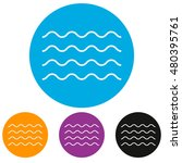four lines simple water sea... | Shutterstock .eps vector #480395761