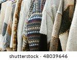 colorful woolen handmade... | Shutterstock . vector #48039646