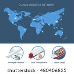 global logistics network. flat... | Shutterstock .eps vector #480406825