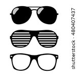 set of sunglasses. vector... | Shutterstock . vector #480407437