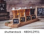 craft beer tasting  wood... | Shutterstock . vector #480412951