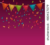 rainbow bunting hanging... | Shutterstock .eps vector #480417079