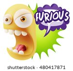 3d rendering angry character... | Shutterstock . vector #480417871