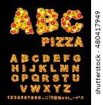 abc pizza. appetizing letters... | Shutterstock . vector #480417949