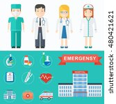 vector doctor icons. group of... | Shutterstock .eps vector #480421621