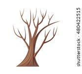 Vector Tree. Oak Isolated On...