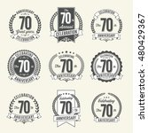 set of vintage anniversary...   Shutterstock .eps vector #480429367