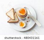 Freshly Boiled Brown Egg On...