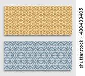 seamless horizontal borders...   Shutterstock .eps vector #480433405