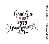 grandparents day background | Shutterstock .eps vector #480435739